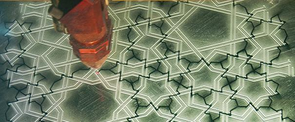 cutting girih tiles