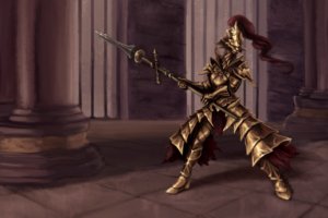 dragon_slayer_ornstein_by_blackash-d6j0nr1